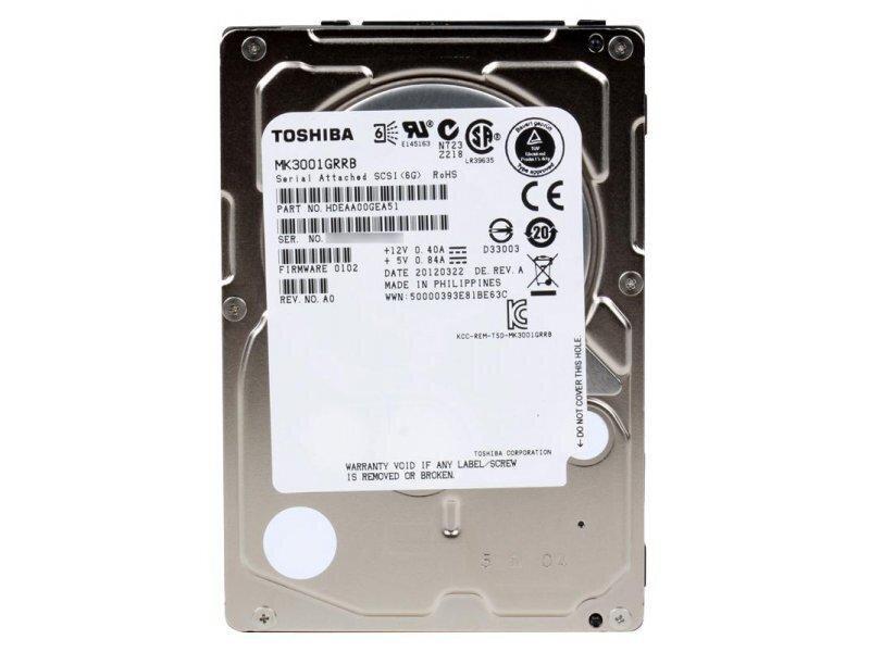 БУ Жесткий диск для сервера SAS 300GB Toshiba MBF 2.5