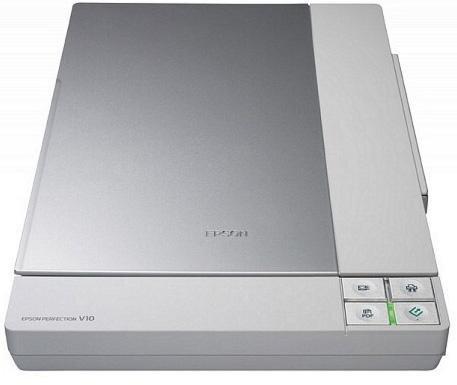 БУ Сканер планшетный Epson V10, А4/ 3200x9600 / 48 bit, USB 2.0 (B11B1