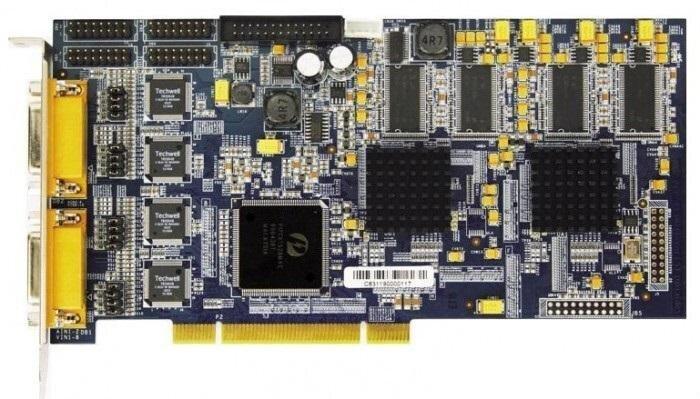 БУ Плата видеозахвата Hikvision DS-4216HFVI, 16 каналов BNC, аппаратна