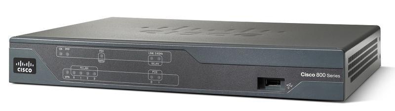 БУ Маршрутизатор Cisco 891-k9 v02, 2 WAN, 8х100mbit, 256 Mb Flash CISC