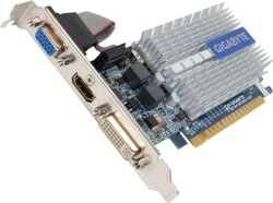 БУ Видеокарта PCI-e Gigabyte GeForce 210, 1024MB DDR3, 64-bit, VGA/ DVI/ HDMI