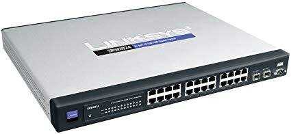 БУ Коммутатор Linksys (Cisco) SRW2024P, 24 х Gigabit with PoE, 2 x SFP