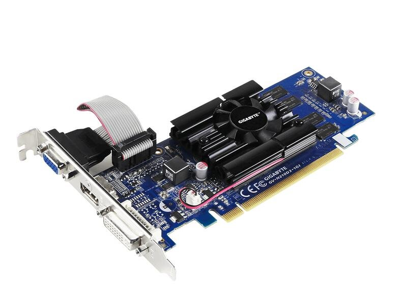 БУ Видеокарта PCI-E Gigabyte GeForce 210 1024Mb DDR3, 64 bit, VGA, DVI, HDMI
